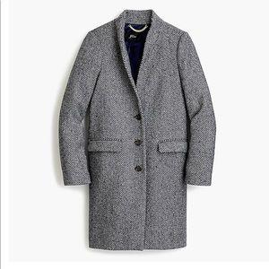 J. Crew Donegal Oversize Topcoat in English Herringbone Wool coat 8 Tall